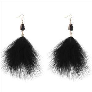 Boho Tassel Feather Dangle Drop Earrings
